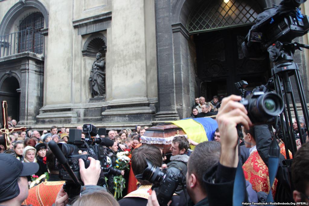 Поховання у Львові Героя Богдана Сольчаника, який був убитий у Києві на Майдані